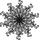 Bloemmandala met spiralen royalty-vrije illustratie