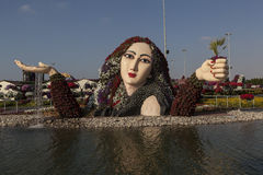 Bloempark in Doubai (het Mirakeltuin van Doubai) Verenigde Arabische emiraten Royalty-vrije Stock Afbeelding