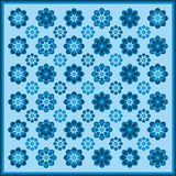 Bloempatroon in blauwe kleuren royalty-vrije stock foto