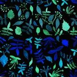 Bloempatroon met tropische installaties Een waterverf voor bloem des Stock Foto