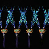 Bloempatroon met tropische installaties Een waterverf voor bloem des Royalty-vrije Stock Foto