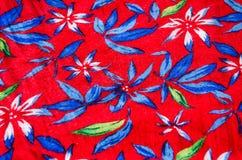 bloempatroon op de stof Stock Afbeelding