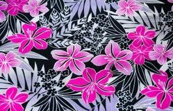 bloempatroon op de stof Royalty-vrije Stock Afbeeldingen