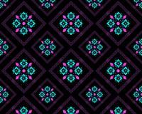 Bloempatroon op een zwarte backgroun vector illustratie