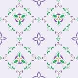 bloempatroon van de naadloze vector van Viola Tricolors Stock Afbeeldingen