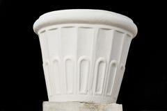 Bloempot die door marmer wordt gemaakt Stock Fotografie