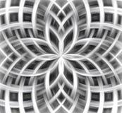 Bloemrijke abstracte achtergrond in zilveren tinten royalty-vrije illustratie