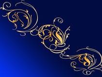 Bloemrijke achtergrond Royalty-vrije Illustratie