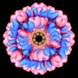 Bloemsamenvatting van het hart gestalte gegeven roze blauw van partijballons Royalty-vrije Stock Afbeeldingen