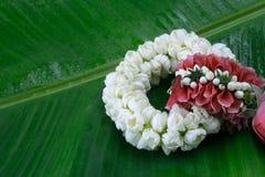 Bloemslinger op Moeder` s Dag en Songkran-dag in Thaise traditie wordt gebruikt die Royalty-vrije Stock Afbeeldingen