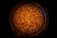 Bloemstuifmeel in een kruik Royalty-vrije Stock Foto's
