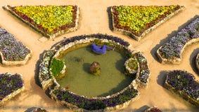 Bloemtuin van Rufolo-Villa in Ravello, Campania, Italië stock afbeelding