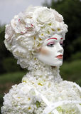 Bloemvrouw Witte bloemen Royalty-vrije Stock Fotografie