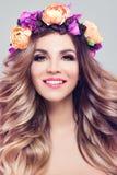 Bloesemschoonheid Beautiful Woman Spa Model stock fotografie