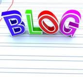 blogów listy ilustracji
