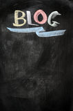 Blog écrit sur un tableau noir photos libres de droits