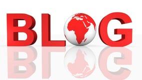 blog έννοια σε απευθείας σύν&d Στοκ Φωτογραφία