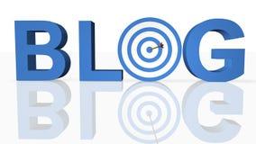 blog έννοια σε απευθείας σύν&d Στοκ Εικόνες