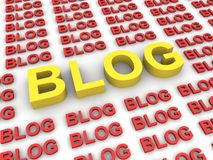 blog έννοια σε απευθείας σύν&d Στοκ Εικόνα