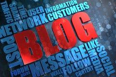 Blog - έννοια Wordcloud. Στοκ εικόνες με δικαίωμα ελεύθερης χρήσης