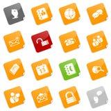 blog κοινωνικός κολλώδης σ&eps Διανυσματική απεικόνιση