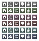 blog ναυσιπλοΐα κουμπιών set1 Στοκ Φωτογραφία