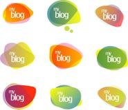 blog συνομιλία φυσαλίδων διανυσματική απεικόνιση