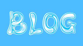 BLOG. Title made from water Royalty Free Stock Image