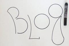 Blog. Foto de archivo