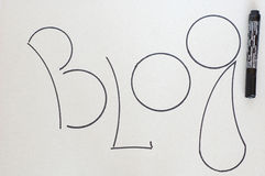 Blog. Stock Photo