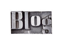 Blog. Made from metal letters royalty free stock photos