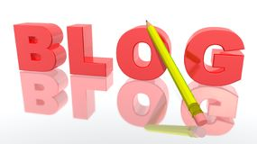 Blog. A 3d picture to illustrate blog phenomenon Royalty Free Stock Photo