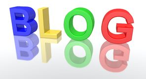 Blog. A 3d rendering of the word blog Stock Photography