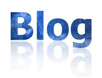 Blog. The Blog symbol which represents the internet Royalty Free Stock Images
