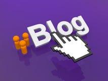 Blog illustrazione vettoriale