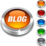 Blog 3d button. Royalty Free Stock Images