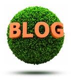 blog 3D en bola herbosa Imágenes de archivo libres de regalías