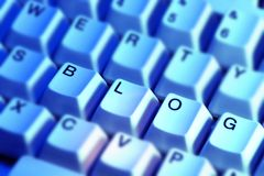 Blog. Written with keyboard keys Stock Images