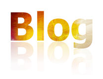 Blog. The Blog symbol which represents the internet Stock Images
