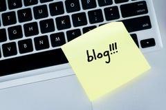 Blog Immagine Stock