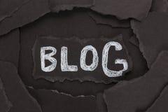Blog Immagine Stock Libera da Diritti