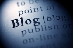 Blog Stockfoto