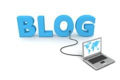 blog συνδεμένος με καλώδιο Στοκ φωτογραφία με δικαίωμα ελεύθερης χρήσης
