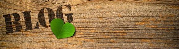 Blog amichevole di Eco - verde Fotografia Stock Libera da Diritti