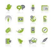 Blog & de Nieuwe Reeks van // Natura van Media vector illustratie