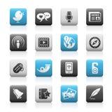 Blog & serie opaca delle icone di nuovi media Fotografia Stock Libera da Diritti