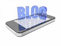 Blog astuto del telefono Immagine Stock