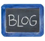 Blog auf Schiefertafel Lizenzfreie Stockfotos