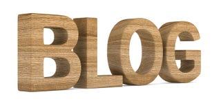 Blog auf weißem Hintergrund Lokalisierte Illustration 3d Lizenzfreie Stockfotos