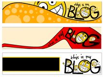 Blog banner stock photo